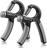 NIYIKOW 2 Pack Grip Strength Trainer, Hand Grip Strengthener, Adjustable Resistance 11-132Lbs (5-60kg), Non-Sl