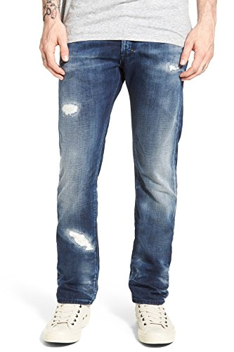 Billy Slim Jeans - PRPS Goods & Co. Demon Billy Slim Straight Leg Jeans in Indigo E75P110P (Size 30 x 34)