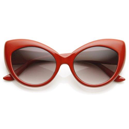 zeroUV - Oversized Vintage Inspired Super & Bold Retro Designer Cat Eye Sunglasses (Audrey Hepburn Costume)