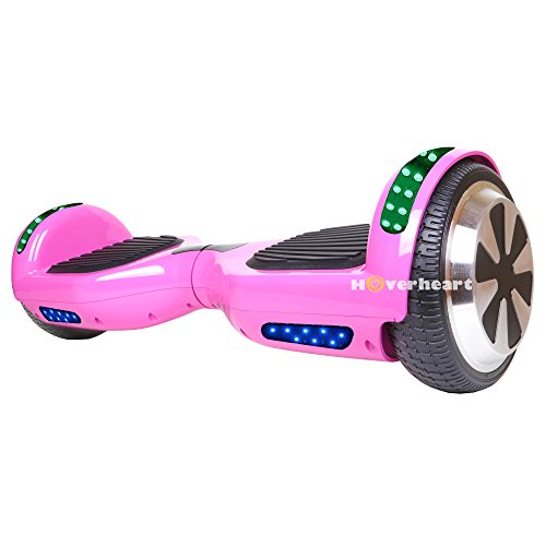 Hoverboard 6.5' UL 2272 Listed Two-Wheel Self Balancing Electric Scooter with Top LED Light And Bluetooth Speaker (Pink)