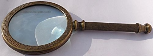 MAH 11 cm Big Steam Punk Traditional Round Antiques Reproduction Brass Magnifying Glass. C-3024 4