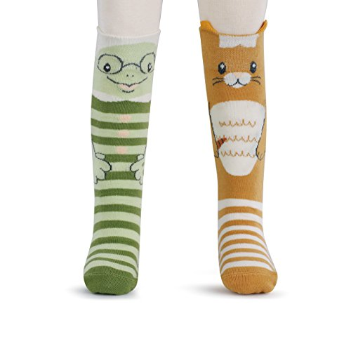 (Bunny and Turtle Child's 18-36 Months Stretch Cotton Knee High Socks & Book Gift Set)