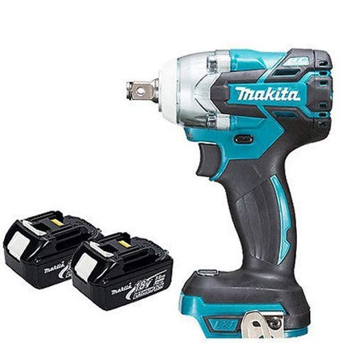 Makita DTW285Z 18V LXT Brushless 1//2in Impact Wrench Body with 2 x 5.0Ah BL1850 Batteries