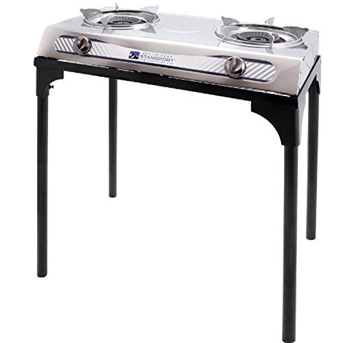 Stansport Stainless Steel 2 Burner Stove w/Stand