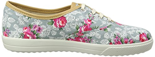 Scarpe Oxford Aqua Mabel Donna Hotter Floral Lace Stringate Multicolore Yt5dRwx