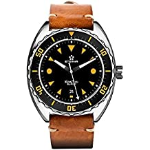 Eterna Super KonTiki Automatic Watch, SW 200-1, Black, Leather strap