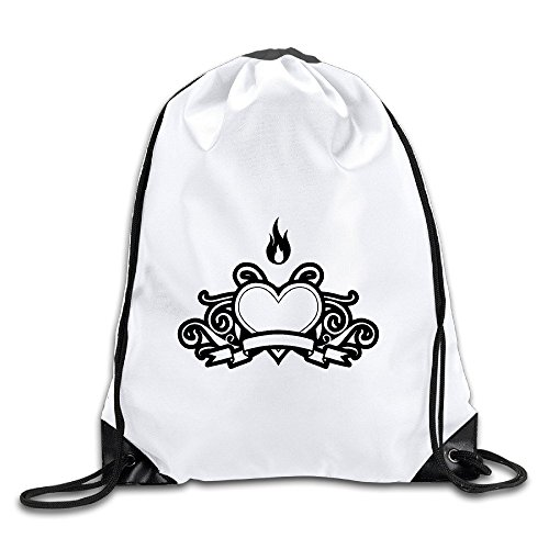 BENZIMM Heart Fire Drawstring Backpacks/Bags (Draw The Titanic compare prices)