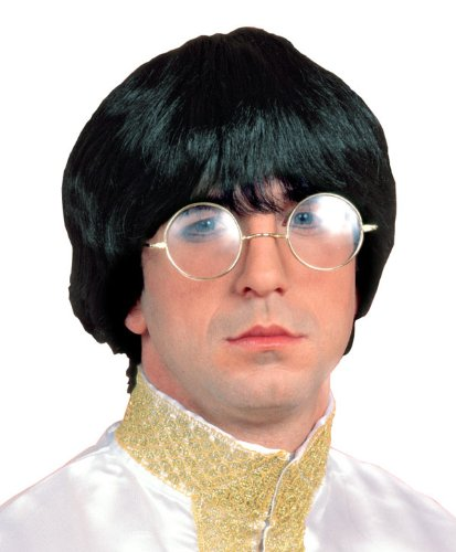 60's Musician Wig Adult-Brown / One (Halloween Beatles Costumes For Adults)