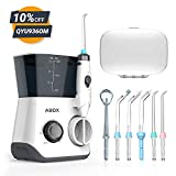 Water Flosser, ABOX Dental Oral Irrigator 600ml Capacity with 8 multifunctional Tips 10