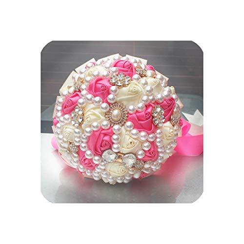 15cm of Handmade Flower Decoration Bride Wedding Bride Holding Flowers with Diamond Pearls,Style 5