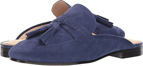 Sam Edelman Women's Paris Mule, Poseidon Blue Suede, 8.5 Medium US