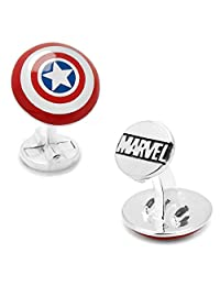 MARVEL Captain America Shield Cufflinks + Marvel Gift Box