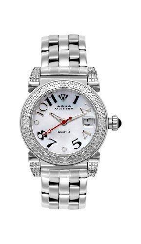 NEW! Aqua Master Ladies' Round 16-Diamond Watch by Aqua Master