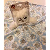Blankets & Beyond Blue Owl Lovey Security Blanket by Blankets and Beyond