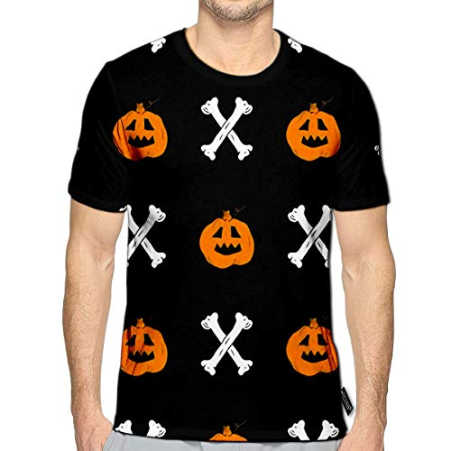 3D Printed T-Shirts Halloween Sketched Party Invitation Or Holiday Banner Design Short Sleeve Tops Tees ()