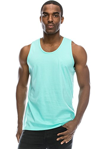 JC DISTRO Mens Hipster Hip Hop Basic Running Solid Mint Tank Top 3XL by JC DISTRO