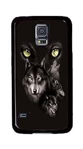 Rugged Samsung Galaxy S5 Case, Moon Eyes Collage Custom Design Hard PC Plastic Case Cover for Samsung Galaxy S5 Black