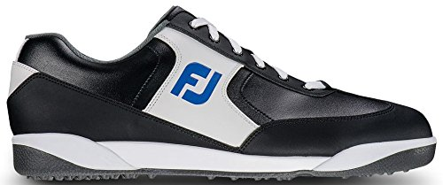 FootJoy GreenJoys Contour Last Spikeless Golf Shoes CLOSEOUT Black/White/Royal Medium 11 (Closeout Golf Shoes)