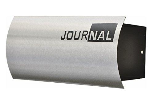 nanook Journal - Zeitungsfach, Zeitungsbox Edelstahl für den Briefkasten mit Schriftzug
