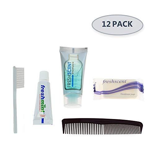12 Kits – Bulk Case of Wholesale Basic Hygiene & Toiletry Kits for Men, Women, Travel, Charity