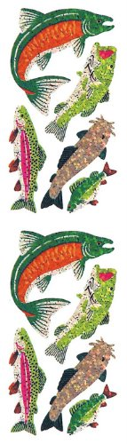 - Jillson Roberts Prismatic Stickers, Salmon, Trout, Bass and Catfish, 12-Sheet Count (S7124)