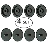 Seat Belt Stop Button Buttons Prevent Seatbelt Buckle from Sliding Down the Belt Set of 4 Plastic Seat-belt Stopper Clips Snap-On System No Welding Required - As Seen on TV