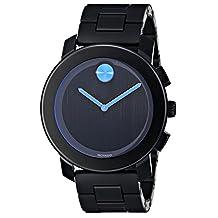 Movado 3600099 Men's Bold Wrist Watch, Black Dial