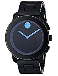 Movado 3600099 Men's Bold Wrist Watch, Black Dial