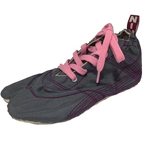 契約間欠我慢する[無敵]MUTEKI 【ランニング足袋】伝統職人の匠技が創り出すランニングシューズ《グレー》