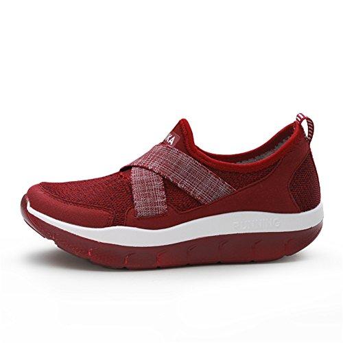 b6874cae5 SHINIK Zapatos de mujer Nuevo Primavera Verano Fitness Shake Shoes Boca  baja Zapatos transpirables Zapatillas antideslizantes