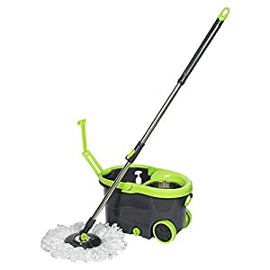 WOTRA® S330 Easywring Wheels Bucket Magic Mop for 360 Degree Easy Mopping Floor Cleaning