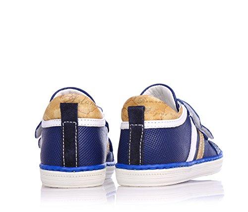 1 Leder Mit Jungen druck Applikationen Schuhe Klettverschluss Blaue Classic Aus Geo classe B4qrBwT