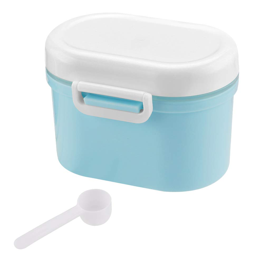 ZOOMY Baby Milk Powder Formula Dispenser Container Children Portable PP Case for Four-Trellis Storage Flower Shaped Box Pink