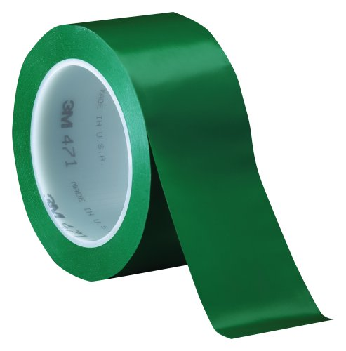 3M Vinyl Tape 471 Green, 50 mm x 33 m, Conveniently Packaged (Pack of 1) ()