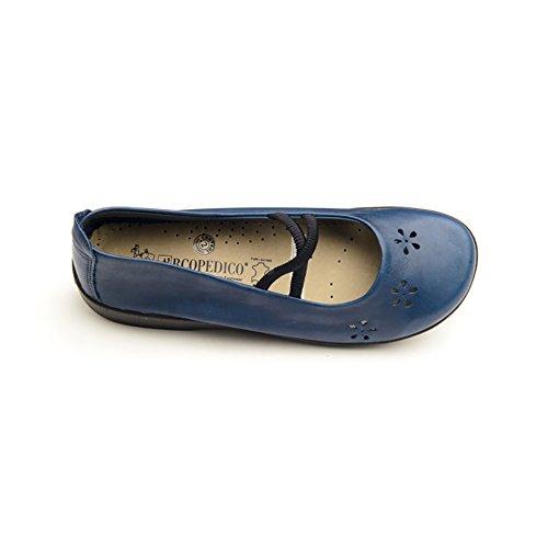 Arcopedico 6811 Flower Mujeres Flats Zapatos Indigo