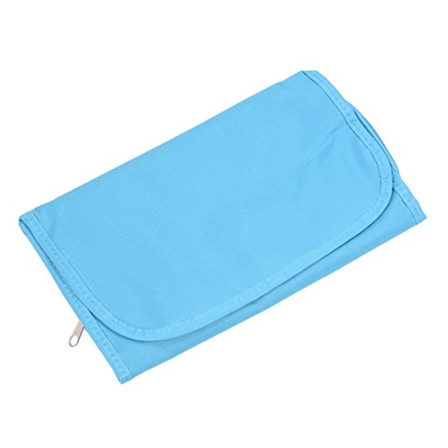 SODIAL(R) Segeltuch Reise Kulturtasche haengend Tasche klappbar Organisator (blau)