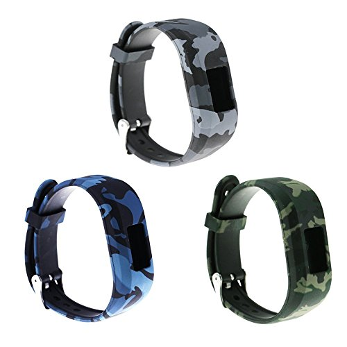 for Garmin Vivofit jr/Vivofit jr 2 Replacement Band(Kids Bands) RuenTech Colorful Adjustable Wristbands with Secure Watch-Style Clasp Strap for Garmin Vivofit jr/Vivofit jr.2 (Soldier Pattern)