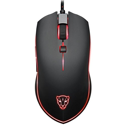 Mouse ,ZYooh Motospeed V40 4000 DPI 6 Buttons Breathing LED Optical Wired Gaming Mouse for PC Gamer Black