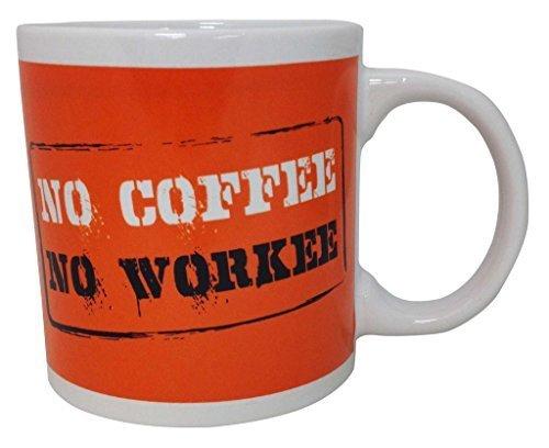Giant Funny High Quality 22oz Coffee Mug ~ No Coffee No Workee (No Coffee No Workee)
