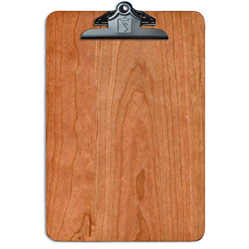 Letter Size Clipboard American Cherry Solid Hardwood Clipboards 9.5