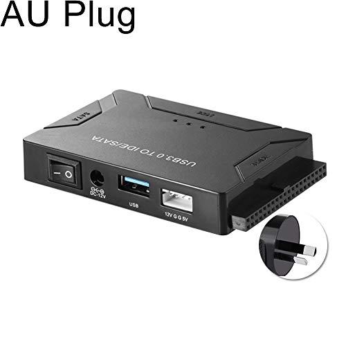 wewa98698 Multifunctional USB 3.0 to SATA/IDE Converter for 2.5/3.5 inch Hard Drive DiskAU ()