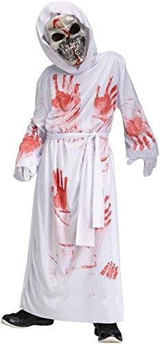 Totally Ghoul Boys White Bleeding Grim Reaper Halloween Dress Up Costume Large 12-14