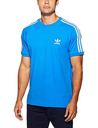 adidas Men's 3-Stripes T-Shirt, Bluebird, Medium