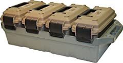 MTM's AC4C is a Rugged tactical carrying crate for multi-caliber ammo storage and transport. Comes with four, O-ring sealed 30 Caliber ammo cans (AC30T) for multi-caliber ammo storage. 30 Caliber ammo cans are a convenient size to store all t...