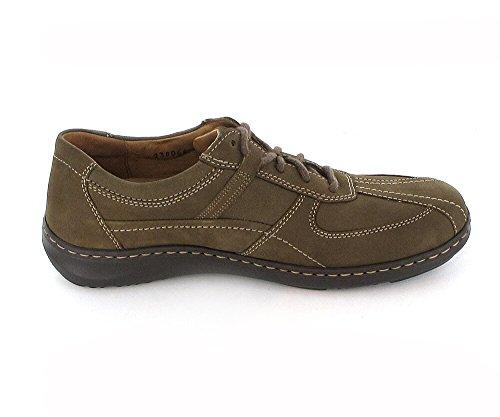 Waldlaeufer Herwig Herren Sneaker 478002/191055 Rauh- / Verloursleder schlamm, Luftpolstersohle, H-Weite, Lederdechsohle, herausnehmbare Sohle