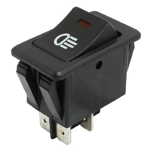DPST ON OFF 4 Pin Rocker Boat Switch Black for Car Foglight Lamp