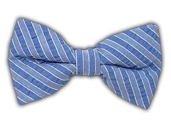100% Cotton All Blues Seersucker Self-Tie Bow Tie