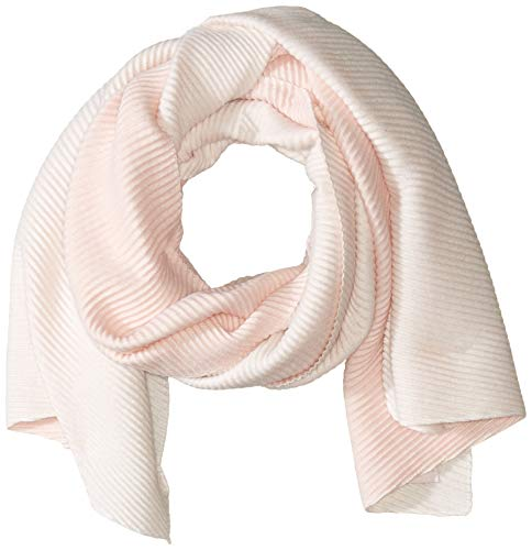 Calvin Klein Women's Double Faced Pleated Blanket Scarf, Blush, One Size Calvin Klein Standard Blanket