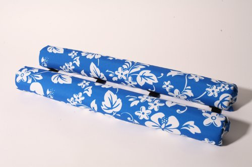 """Vitamin Blue 27"""" Roof Rack Pads Blue Floral - Non Logo (MADE in U.S.A.) REGULAR PADS"""