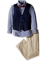 Boys' Four-Piece Glen Plaid Vest Set